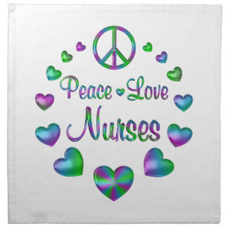Peace Love Nurses Napkin