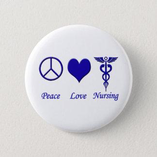 Peace Love Nursing 2 Inch Round Button