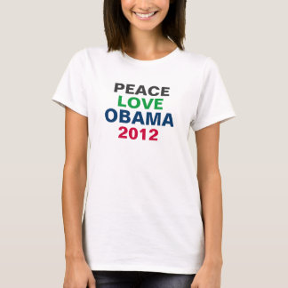 Peace Love OBAMA 2012 Tank Top