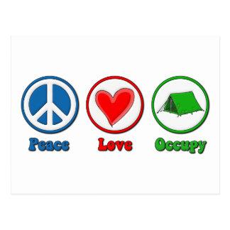 Peace Love Occupy Postcard