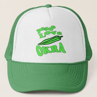 Peace Love Okra Trucker Hat