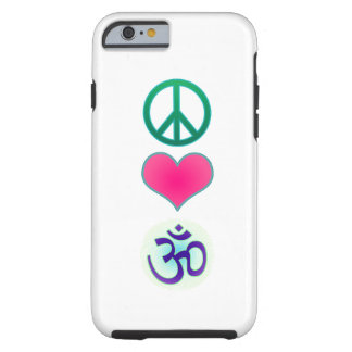 Peace, love, om iPhone 6 case
