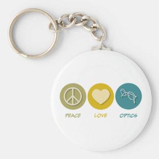 Peace Love Optics Basic Round Button Keychain