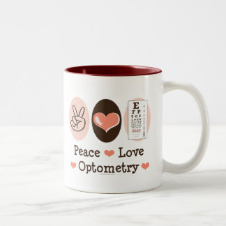 Peace Love Optometry Mug
