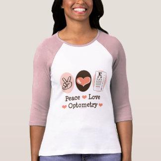 Peace Love Optometry Optometrist Raglan T-shirt