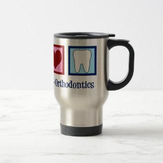Peace Love Orthodontics Travel Mug