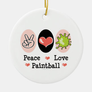 Peace Love Paintball Ornament