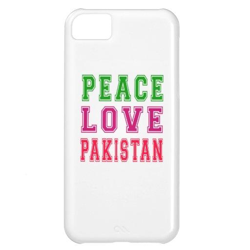 Peace Love Pakistan iPhone 5C Cases