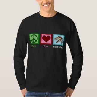 Peace Love Paleontology T-Shirt