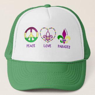 PEACE LOVE PARADES MARDI GRAS HAT 72MARKETING