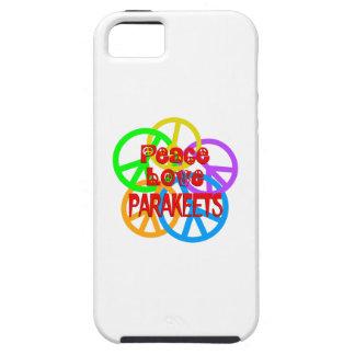 Peace Love Parakeets iPhone 5 Case