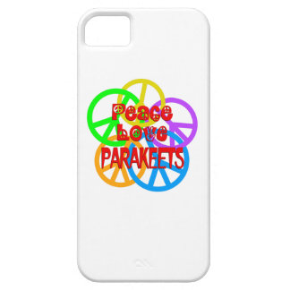 Peace Love Parakeets iPhone 5 Cover
