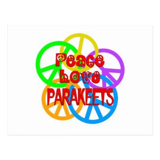 Peace Love Parakeets Postcard