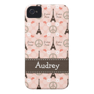 Peace Love Paris iPhone 4 4s Case-Mate Cover