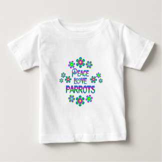 Peace Love Parrots Baby T-Shirt