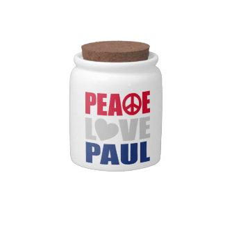 Peace Love Paul Candy Jar