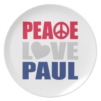 Peace Love Paul Dinner Plate
