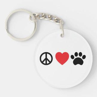 Peace, Love, Paw Acrylic Keychain