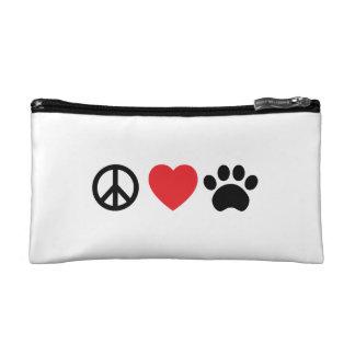 Peace, Love, Paw Cosmetic Bag