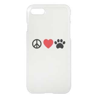 Peace, Love, Paw iPhone 8/7 Case