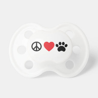 Peace Love Paw Pacifier