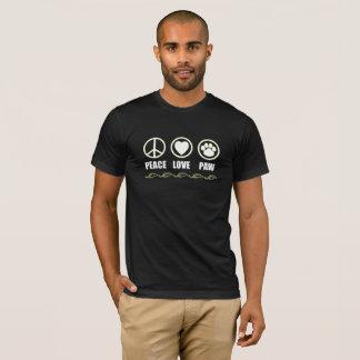 Peace, Love, Paw Symbols T-Shirt