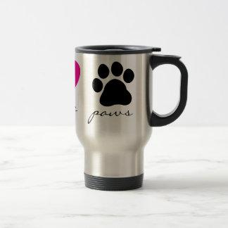 Peace Love Paws Coffee Mug
