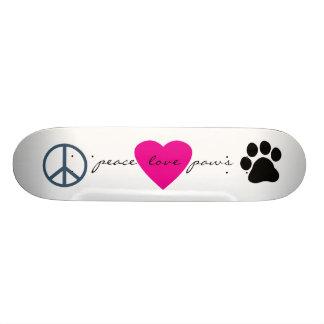 Peace Love Paws Skate Board Decks