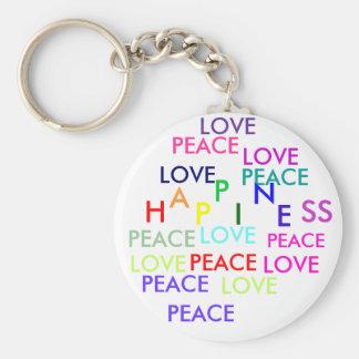 PEACE, LOVE, PEACE, PEACE, PEACE , PEACE, LOVE,... KEYCHAIN