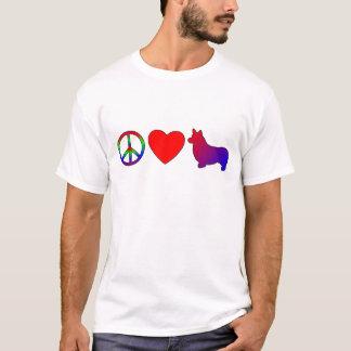 Peace Love Pembroke Welsh Corgis T-Shirt