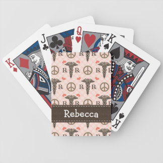 Peace Love Pharmacy Bicycle Playing Cards