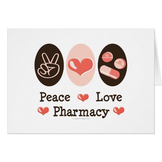Peace Love Pharmacy Greeting Cards