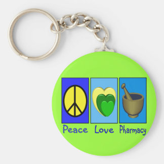 Peace Love Pharmacy Keychain
