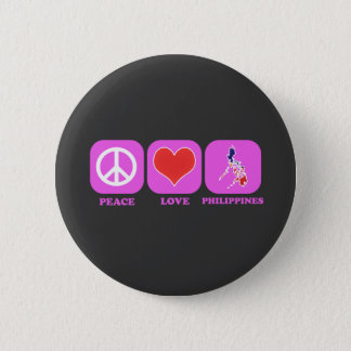 Peace Love Philippines 2 Inch Round Button