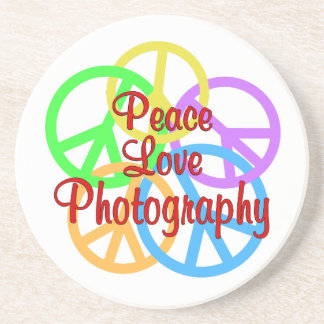 Peace Love Photography Drink Coaster