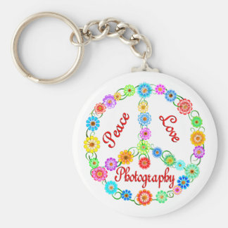 Peace Love Photography Keychain