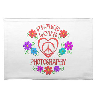 Peace Love Photography Placemat