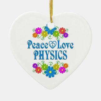 Peace Love Physics Ceramic Ornament