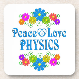 Peace Love Physics Coaster