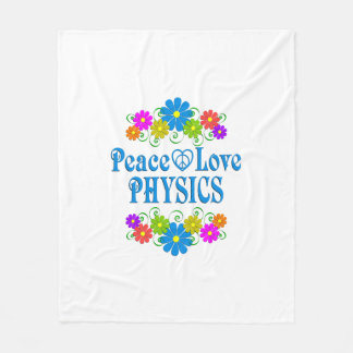 Peace Love Physics Fleece Blanket