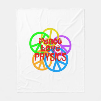 Peace Love Physics Fleece Blanket