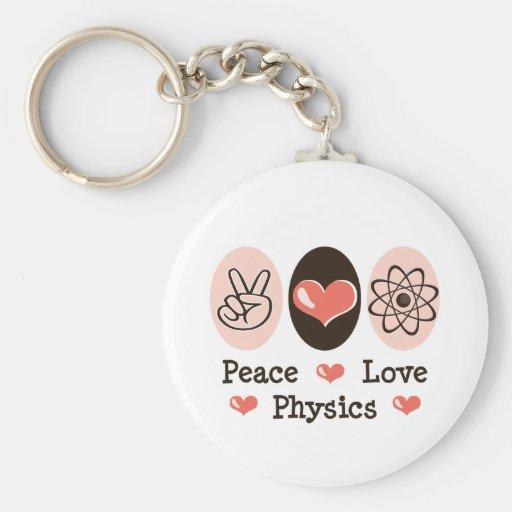 Peace Love Physics Key Chain