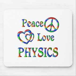 Peace Love PHYSICS Mouse Pad