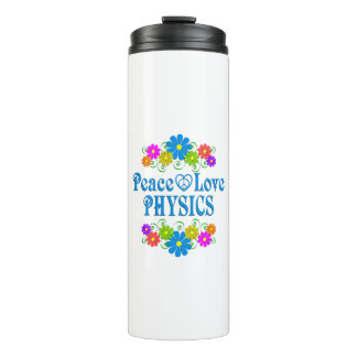 Peace Love Physics Thermal Tumbler