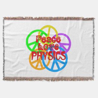 Peace Love Physics Throw Blanket