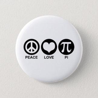 Peace Love Pi 2 Inch Round Button