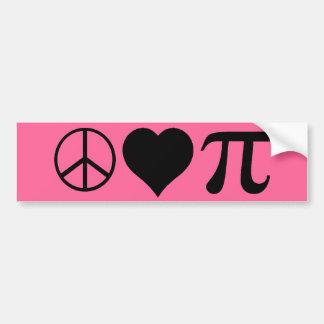 peace love pi bumper sticker