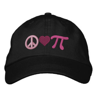 Peace Love Pi Embroidered Hat