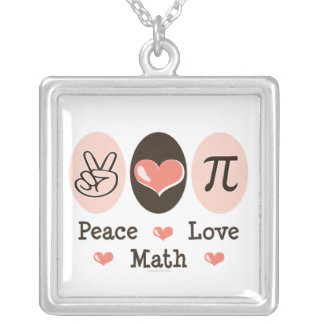 Peace Love Pi Necklace