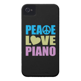 Peace Love Piano iPhone 4 Case-Mate Cases